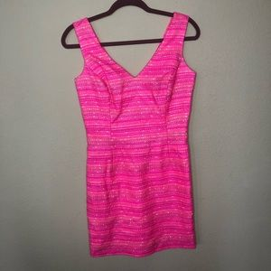 Lilly Pulitzer Laidley Tweed Pink Dress Size 4